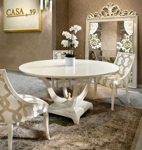 Gold Art. 4623, Round lacquered table