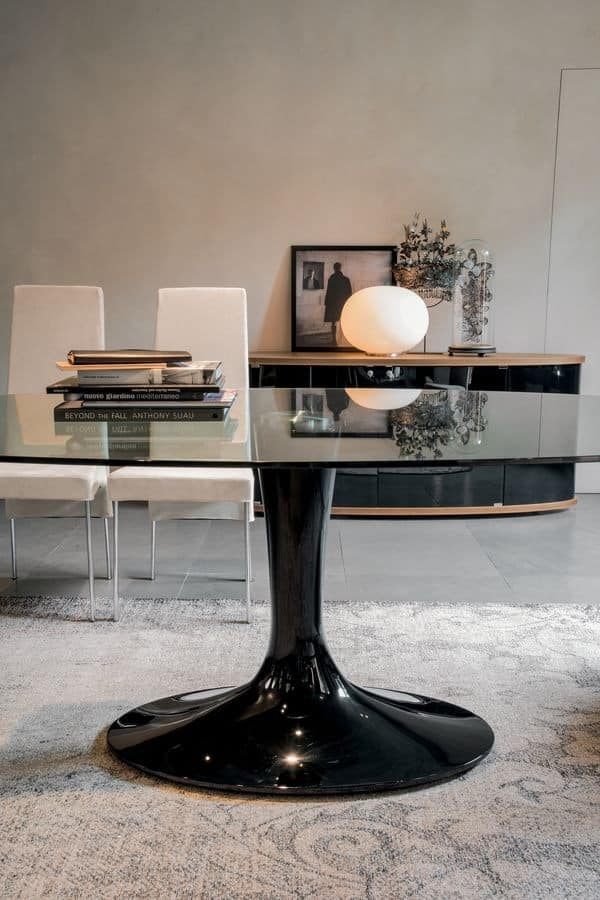IMPERIAL, Fixed table, with glass or ceramic top
