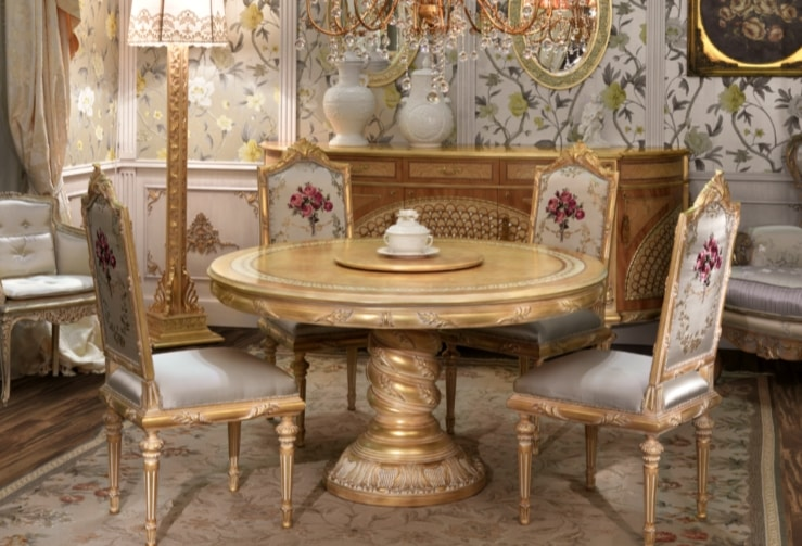 Lariana round table, Round classic style dining table