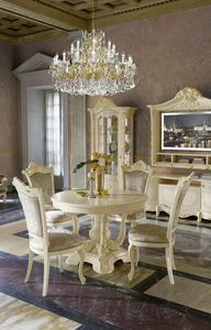 Madame Royale round table, Classic style table with extendable top