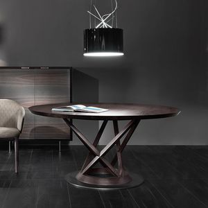 Mandarin table, Round table, with sculptural base