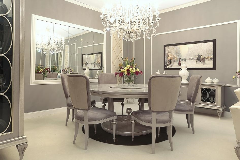 Miami table, Round dining table with lasy susan