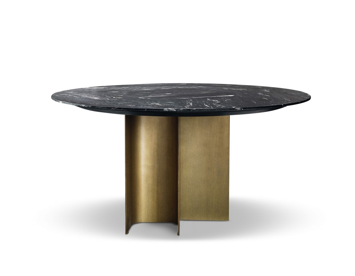 Mirage round table, Round table with marble top