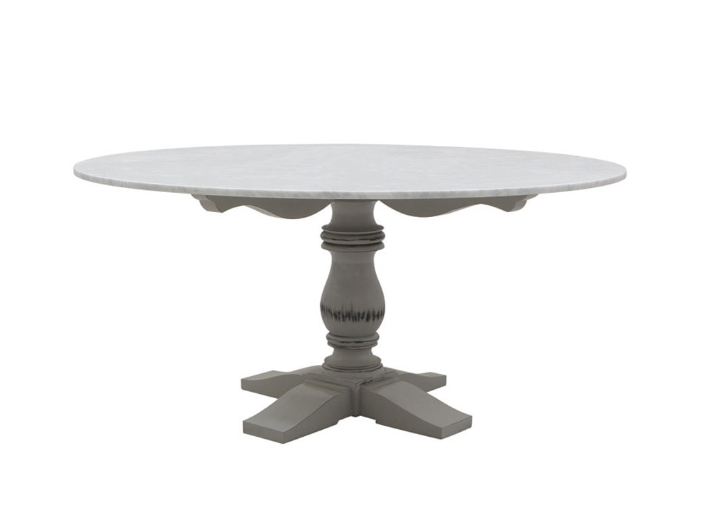 Mozaic 0478, Round table in classic style, marble top