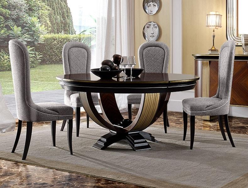 Oliver Art. OL05/160, Round table for elegant dining rooms
