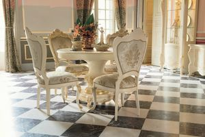Opera round table, Round extendable table