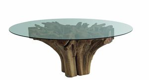 Radice 04C5, Round glass table with root base