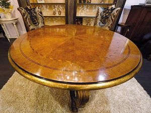 Royal table, Round table for classic dining rooms