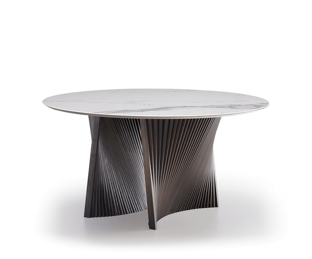Shell, Table with round ceramic top