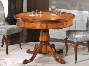 Silvia table, Round table with inlays