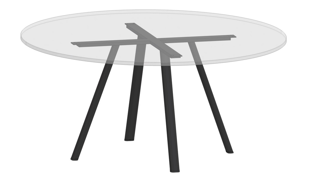 Surfy Hub 2027 - Outdoor 2027 round, Round table also for outdoors