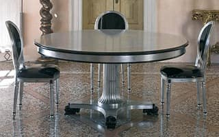 VANITY table, Round table with central support structure, classic style