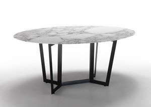 Vela, Elliptical or round dining table