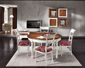 Vienna round table, Round extendable table