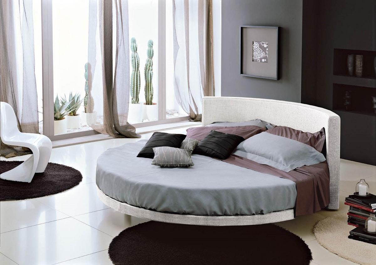 OTELLO, Round bed with headboard
