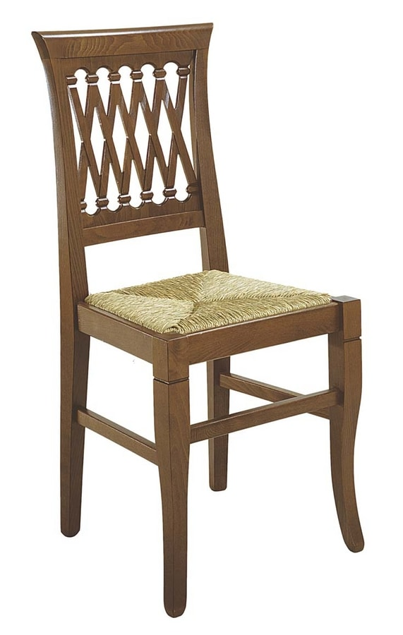 101, Rustic chair with straw seat