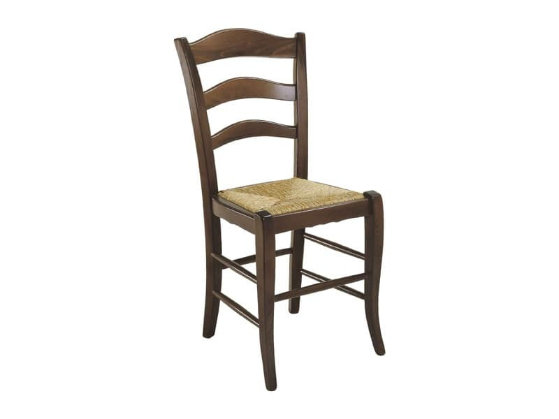 105, Rustic chair with straw seat, for residential use