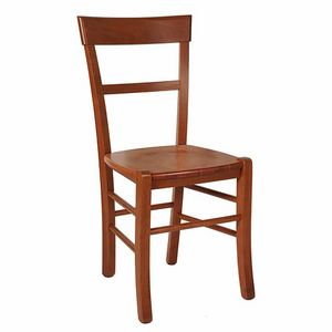 109, Rustic chair with wooden seat