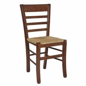 115, Rustic chair, with horizontal slatted back