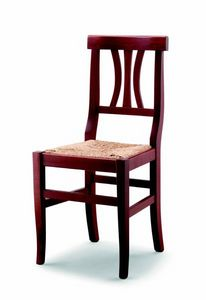 176 Fiorella, Rustic chair with straw seat