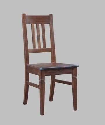 188, Rustic chair in beech wood, padded