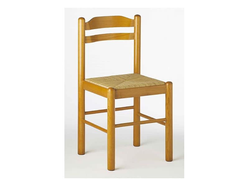 403, Chair in old-fashioned stile, wooden, for rustic kitchen