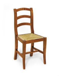 Art.107, Rustic chair in wood and straw