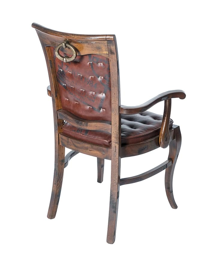 Art. 646, Leather chair with armrests, country style