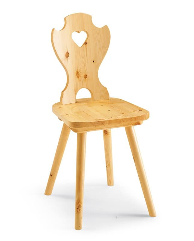 Corazon, Chair entirely of wood flax, perforated back