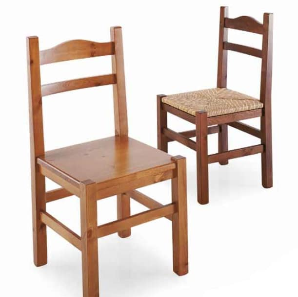Moena, Rustic pine-wood chair