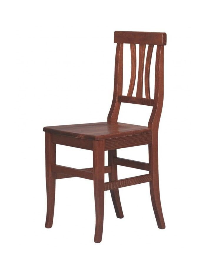 R03, Rustic chair made entirely of wood, for cottages, pubs and taverns