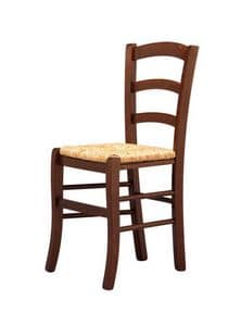 R07, Rustic chair, straw seat, for bars and wine clubs