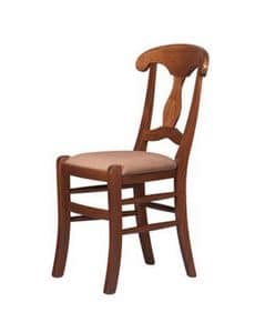 R10, Rustic chair in beech wood, for wine bars, pubs and bars