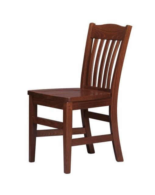 R11, Chair entirely of solid wood, for contract use
