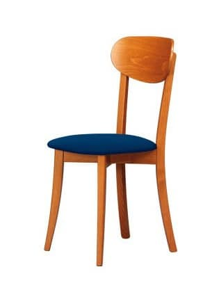 R12, Natural wooden chair, suitable for classic and rustic kitchens