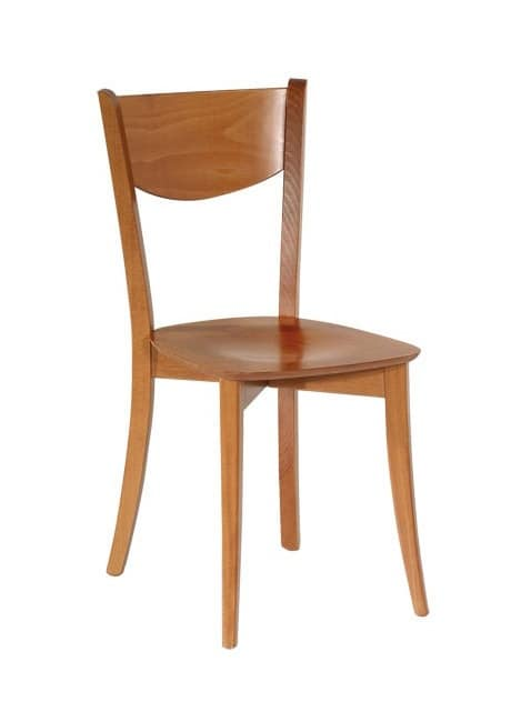 R13, Wooden chair with simple lines, for restaurants and bars