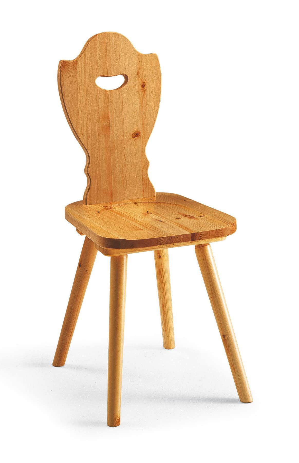 S/102 Bayern Chair, Rustic chair in solid pine, for mountain chalet