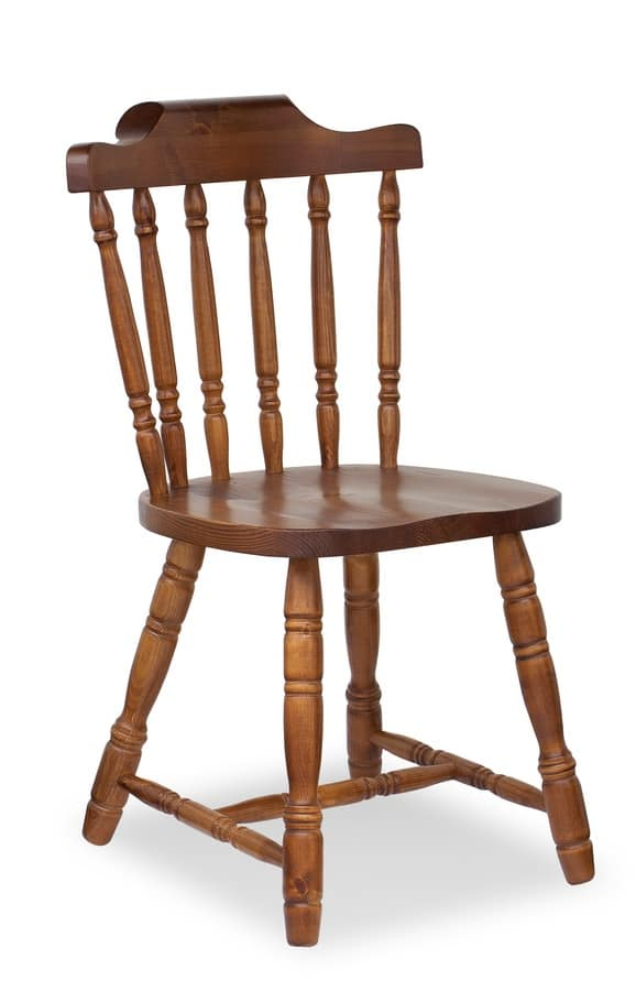 S/104 old america, Rustic chair in wood for pub and inns