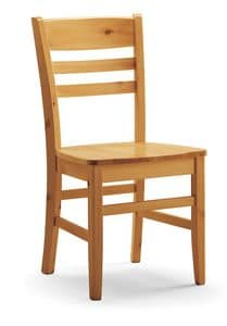 S/154 Sedia Annamaria, Chair in pine, with horizontal slats, rustic