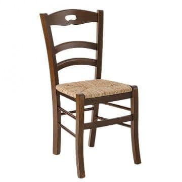 Savoy foro, Rustic chair with straw seat for farm restaurant