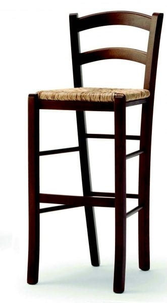 04 Brio/SG, Rustic stool, with straw seat