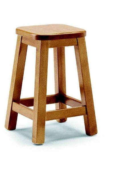 109 Quadro, Wooden stool without backrest