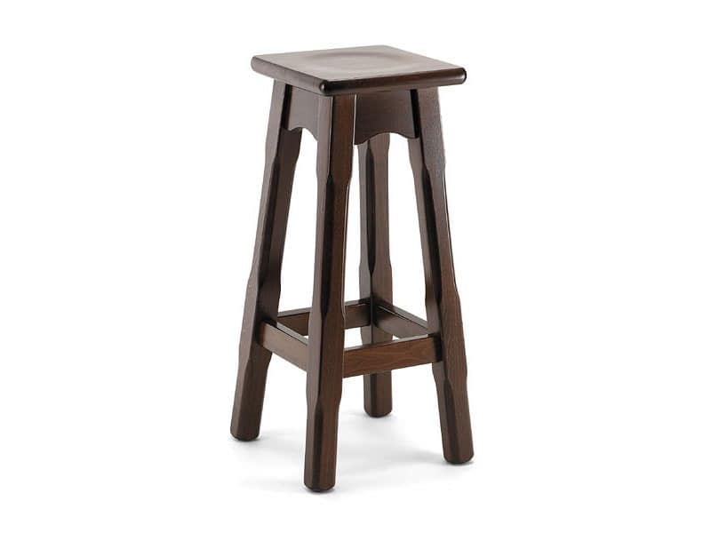 715 A, Wooden stool, for farms and restaurants