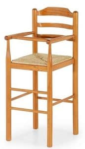 Baby, Wooden stool for children suited for restaurants, children's stool for the kitchen