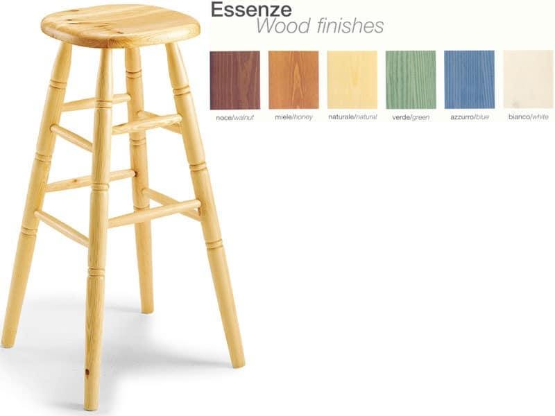 H/301 bar stool, Beech stool, for country restaurant