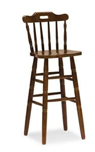 H/302 Country Stool, Country-style stool, made of solid pine