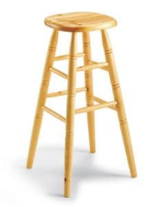 Tango & Tun�, High wooden rusticstool, for tavern and beer house
