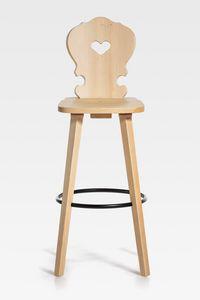Vienna, Wooden stool with a Mitteleuropean design