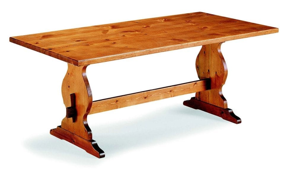 6160 Frattino, Rustic pine wood table