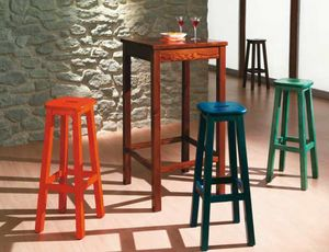 Bar-A, High pinewood table for rustic pubs